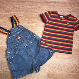 Old Navy overalls and shirt